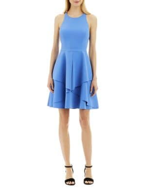 Solid Fit-&-Flare Dress by Nicole Miller New York