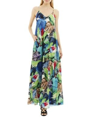 Tropical-Printed Gown by Nicole Miller New York