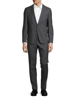Windowpane Blazer and Pants Suit Set by strellson