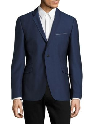Textured Notch-Lapel Jacket by strellson
