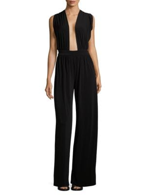 Crossback Solid Jumpsuit by Rachel Zoe