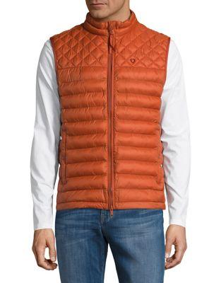 Quilted Zip-Front Vest...