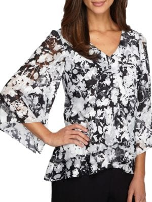 Floral-Printed Top by Alex Evenings
