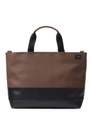 Colorblock Dipped Leather Satchel by Jack Spade