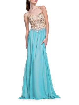Embellished Sleeveless Gown by Glamour by Terani Couture