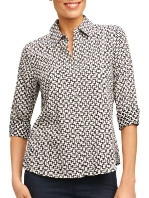 Three-Quarter Sleeve Top by Foxcroft