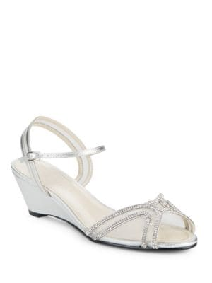 Hilton Embellished Evening Wedge Sandals by Caparros