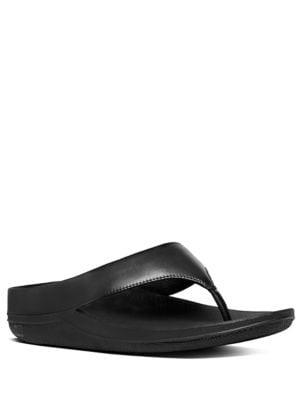Ringer Leather Toe-Thong Sandals by FitFlop
