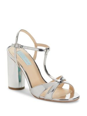Luisa High Heel T-Strap Sandals by Betsey Johnson