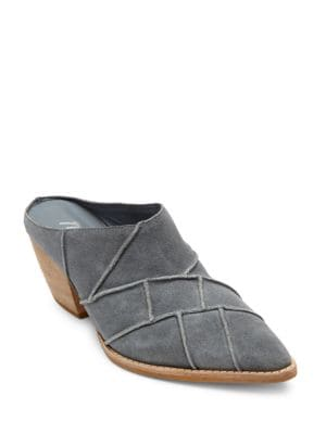 Crossroads Patchwork Suede Mules by Matisse