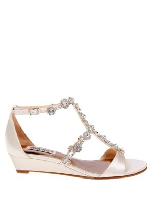 Terry Satin Embellished Sandals by Badgley Mischka
