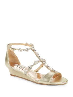 Terry II Embellished Wedge Sandals by Badgley Mischka