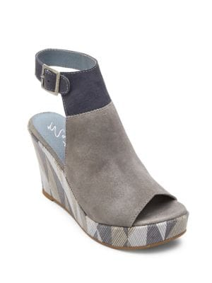Harlequin Geometric Suede Wedge Sandals by Matisse