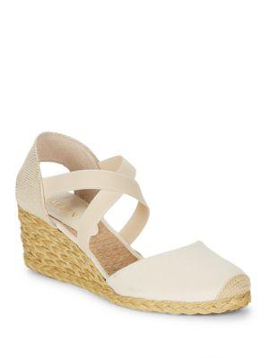Casandra Shantung Espadrille Wedge Sandals by Lauren Ralph Lauren