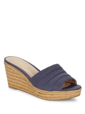 Buy Karlia Espadrille Wedge Sandals by Lauren Ralph Lauren online
