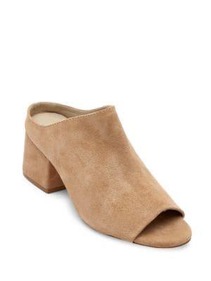 Misty Suede Block Heel Mules by Matisse