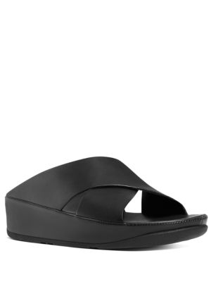 Kys Leather Slide Sandals by FitFlop