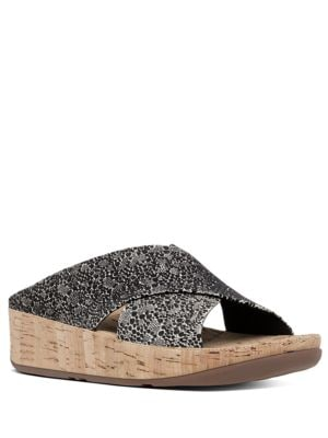 Kys Suede Slide Sandals by FitFlop