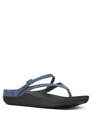 Denim Strap-Back Sandals by FitFlop
