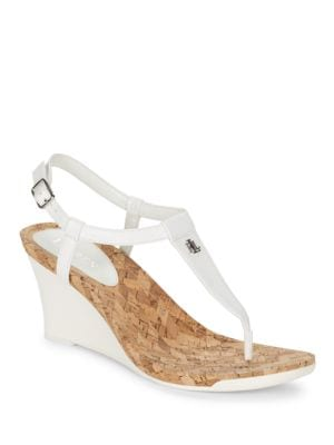 Naris Slingback Wedge Sandals by Lauren Ralph Lauren