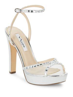 Buy Myrna Leather Platform Sandals by Nina online