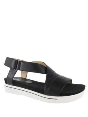 Celie Suede Platform Sandals by Adrienne Vittadini