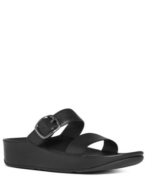 Stack Leather Slide Sandals by FitFlop
