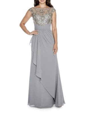 Embroidered Wrap Gown by Decode 1.8