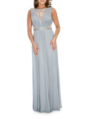 Embellished Lace Cutout Gown by Decode 1.8