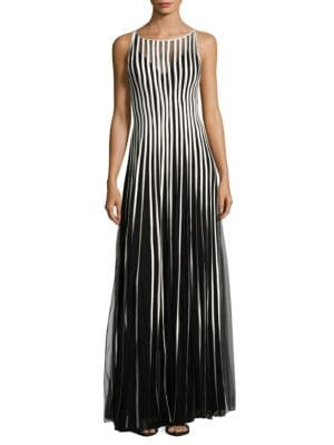 Striped Gown by Basix