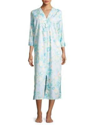 Floral-Print Cotton Nightgown by Miss Elaine