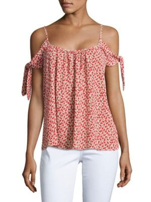 Montego Bay Floral Cold-Shoudler Top by Bailey 44