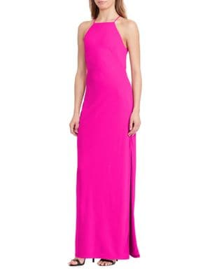 Cutout-Back Sleeveless Gown by Lauren Ralph Lauren