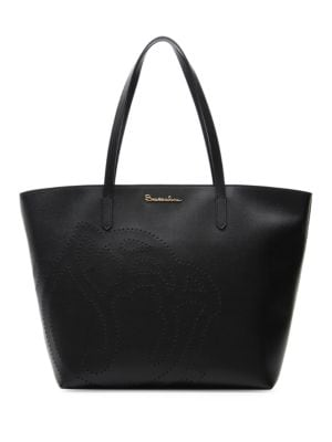 New Ninfea Large Embossed Rose Leather Tote by Braccialini