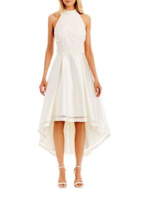 Floral-Patterned Hi-Lo Dress by Nicole Miller New York