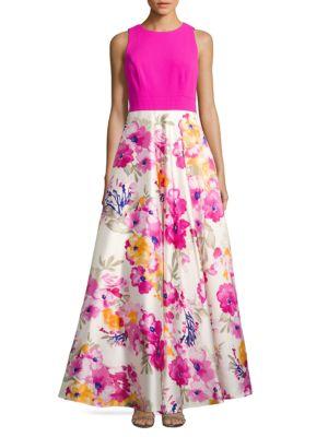 Floral Crewneck Gown by Eliza J