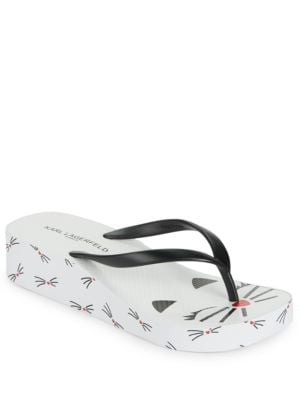 Tina Wedge Flip Flops by Karl Lagerfeld Paris