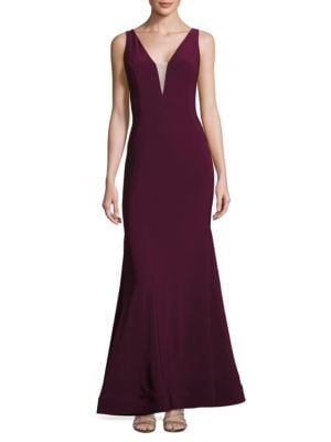 Paneled Low Back Gown by Xscape