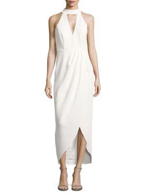 Draped Cutout Dress by Xscape