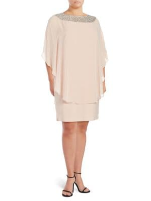 Beaded Popover Dress by J Kara