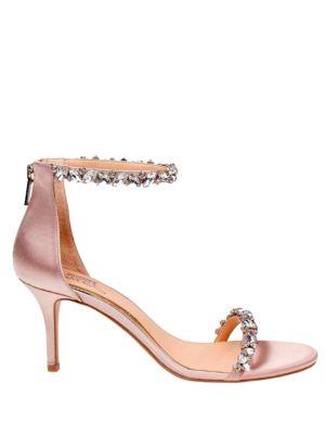 Zaylee Ankle Strap Satin Dress Sandals by Belle Badgley Mischka
