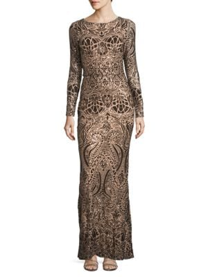 Embellished Column Gown by Betsy & Adam