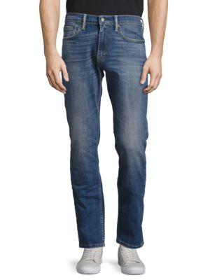 511 Dark Blue Faded Five-Pocket Jeans by Levi's