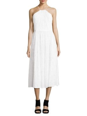 Halter Lace Dress by Belle Badgley Mischka