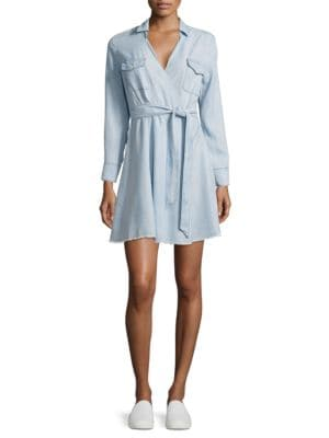 Chambray Wrap Shirtdress by BB Dakota