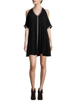 Cold Shoulder Swing Dress by BB Dakota