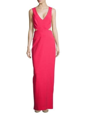 Solid Jersey Cutout Gown by Nicole Miller