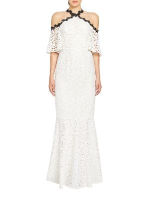 Trumpet Cold-Shoulder Gown by Jill Jill Stuart