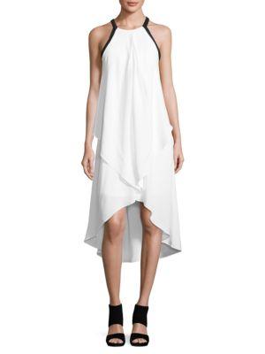 Colorblock Asymmetric-Hem Dress by Mika & Gali