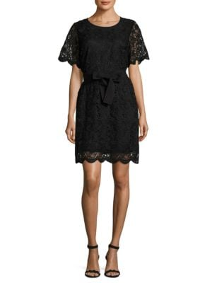 Belted Lace Dress by Mika & Gali